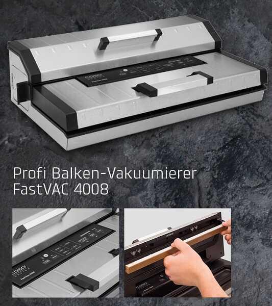 מכונת ואקום מקצועית CASO FASTVAC 4008